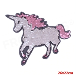Reversible Sequin Patch - Unicorn