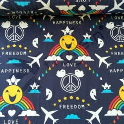 Organic Cotton Jersey - Happiness