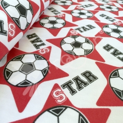 "Remnant 35""-Organic Cotton Jersey-Soccer Star-Red"