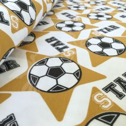 Organic Cotton Jersey - Soccer Star -Gold