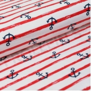 Organic Cotton Jersey - Anchor Stripes