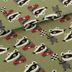 Organic Cotton Jersey - Badger Race - Olive