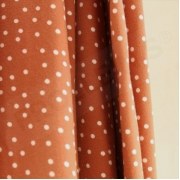 Organic Cotton Jersey - Dotties - Caramel