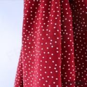 Organic Cotton Jersey - Dotties - Cherry Red