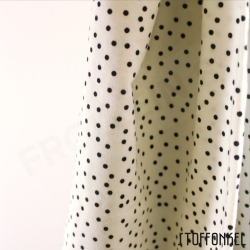 Organic Cotton Jersey - Dotties - White/Black