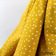 Organic Cotton Jersey - Dotties - Mustard