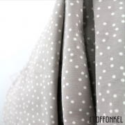 Organic Cotton Jersey - Dotties - Stonegray
