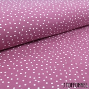 Organic Cotton Jersey - Dotties - Vintage Rose