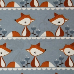 Organic Cotton Jersey - Little Fox-Gray