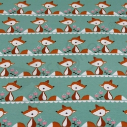 Organic Cotton Jersey - Little Fox-Green