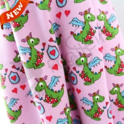 Organic Cotton Jersey - Dragon - Girls-Pink
