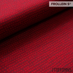 Organic Cotton Jersey - Dotted Lines-Cherry Red