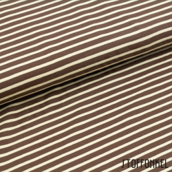 Organic Cotton Jersey - Stripes Brown/Beige