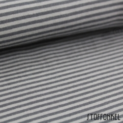 Organic Cotton Jersey - Mini Stripes Gray