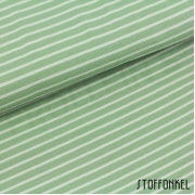 Organic Cotton Jersey - Stripes Moss Green