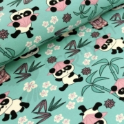 Organic Cotton Jersey -Panda Girl