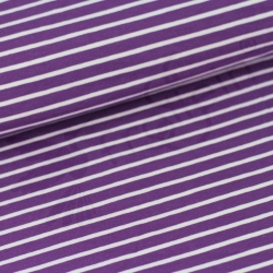 Organic Cotton Jersey - Stripes - Purple