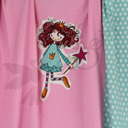 Organic Cotton Jersey -Watch out-Princess-Pink