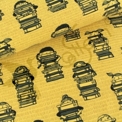 Organic Cotton Jersey - Book Kids - Mustard