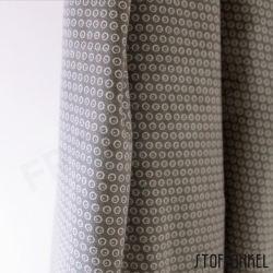 Organic Cotton Jersey - Circles N Dots - Granit Gray