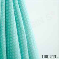 Organic Cotton Jersey - Circles N Dots - Mint