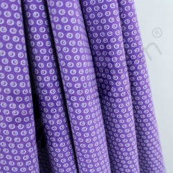 Organic Cotton Jersey - Circles N Dots - Purple