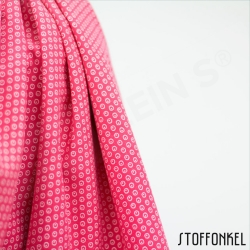 Organic Cotton Jersey - Circles N Dots - Raspberry