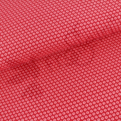 Organic Cotton Jersey - Circles N Dots - Lollipop Red