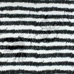"Remnant 22""-Organic Cotton Jersey-Scribble Stripes-White"