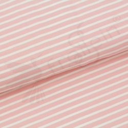 Organic Cotton Jersey - Stripes Peach Rose