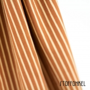 Organic Cotton Jersey - Stripes Caramel