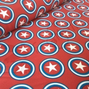 Softshell - Circled Stars - Red