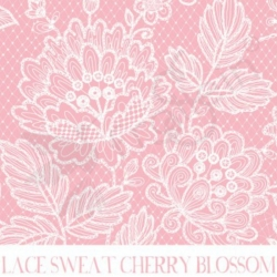 French Terry - Lace Cherry Blossom