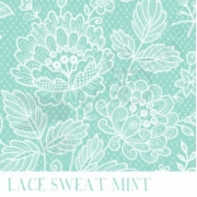 Sweatshirt Jersey - Lace Mint