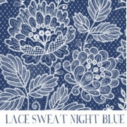 Sweatshirt Jersey - Lace Night Blue