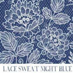 French Terry - Lace Night Blue