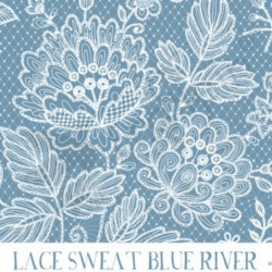 French Terry - Lace River Blue