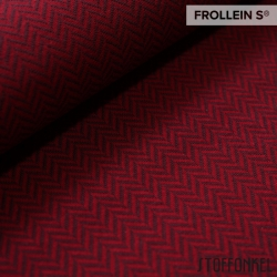 Organic Jacquard - Herringbone-Cherry Red