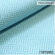 Organic Jacquard - Herringbone-Light Blue