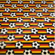 Cotton Jersey - German Soccer Ball Stripes
