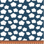 Cotton Jersey - Mini Clouds-Blue
