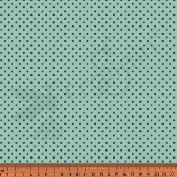 Cotton Jersey - Mini Polka Dots-Mint