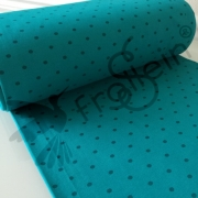 Ribbing - Polka Dots - Teal