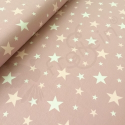 Cotton Jersey - Stars on Pink