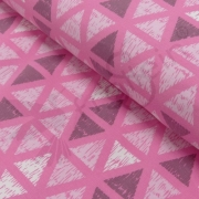 Sweat Fleece - Triangles - Pink