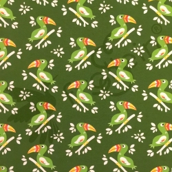 Cotton Jersey - Toucan - Green