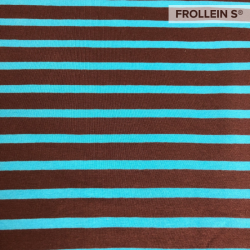 Cotton Jersey - Stripes-Brown/Turquoise