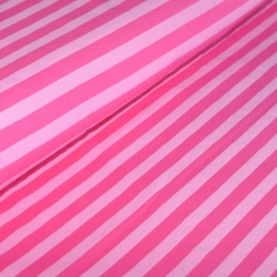 Sweat Fleece - Blockstripes - Pink