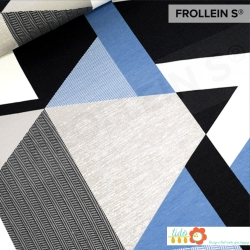 Organic French Terry - Trianglar-Blue