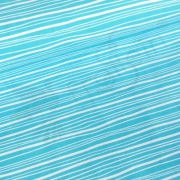 Organic Cotton Jersey - Wavy Stripes - Aqua